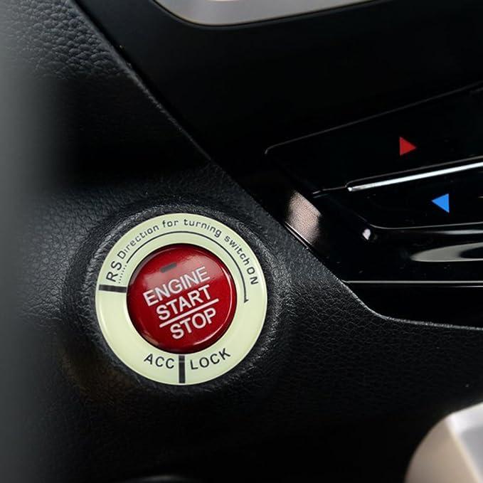 verde fluorescente nero Word Winbang Sticker foro chiave luminoso Auto Moto accensione del foro chiave anello di incandescenza di notte Decor Sticker