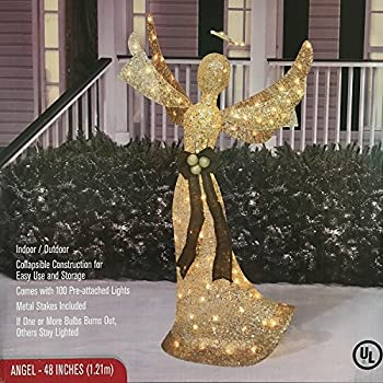 Amazon.com: Set of 2 Lighted Glitter Scrolled Peace Doves ...