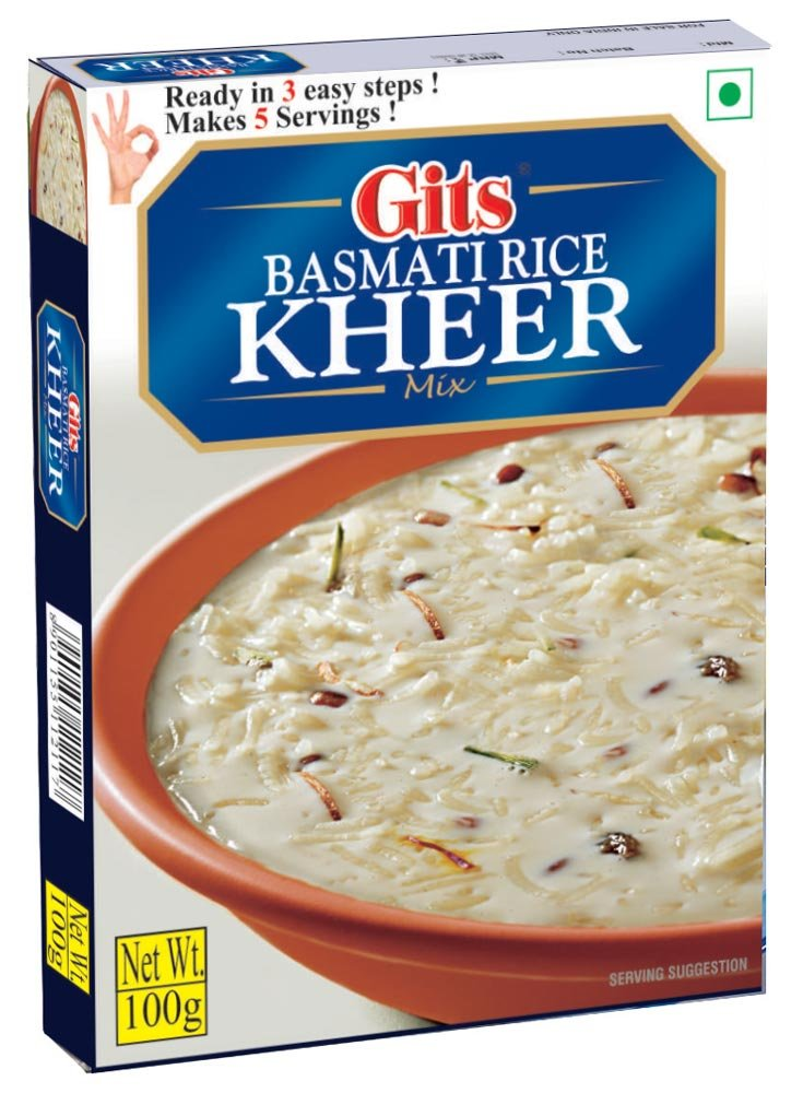 Gits Basmati Rice Kheer Mix, 3.5 Ounce: Amazon.es: Alimentación y bebidas