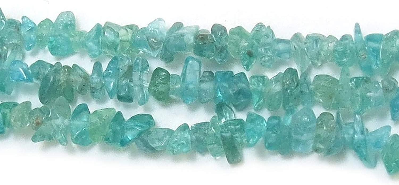 Neerupam Collection brasileño Azul-Verde apatita Natural de Piedras Preciosas sin Cortar Cuentas de Chip 33 Pulgadas 10 líneas mechón
