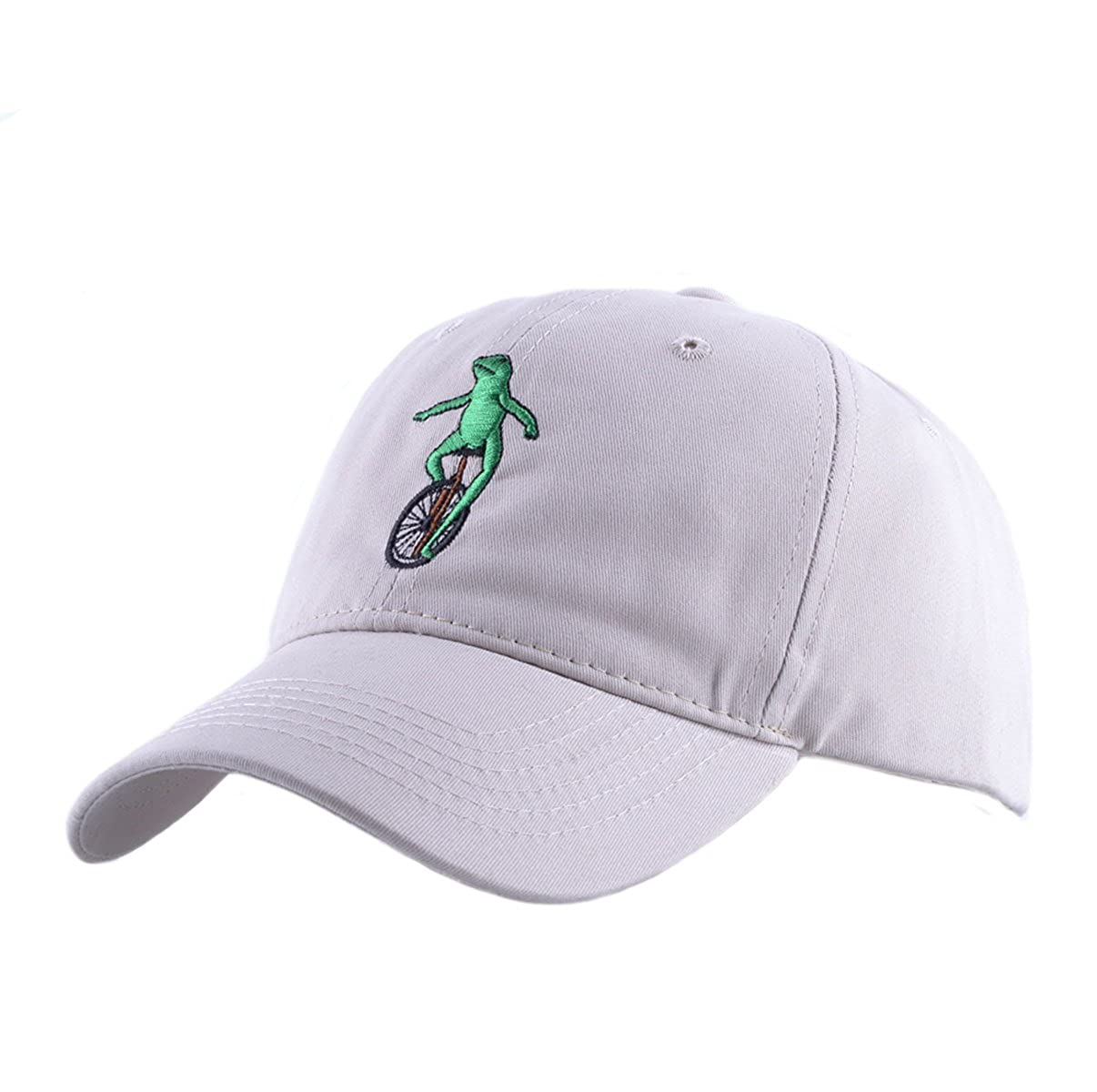 d32f84bd277 Himozoo Women Men Baseball Cap 100% Cotton Washed wheelbarrow Frog Embroidery  Dad Hat (Beige)  Amazon.co.uk  Clothing