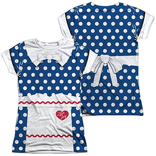 I Love Lucy Costume Ricky (Juniors: I Love Lucy- Polka Dot Costume Tee (Front/Back) Juniors (Slim) T-Shirt Size S)