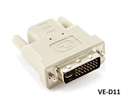 CablesOnline, DVI Graphics Card Display GPU Detection Monitor Dummy Plug  Adapter, VE-D11