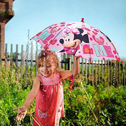 Amazon.com: Disney Little Girls Minnie Mouse Character Rainwear Umbrella, Pink, Age 3-7: Clothing