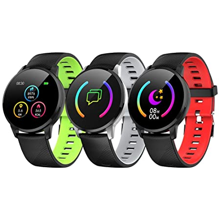 Pulsera de 1,3 pulgadas Smart Watch Fitness Tracker con pulsómetro ...