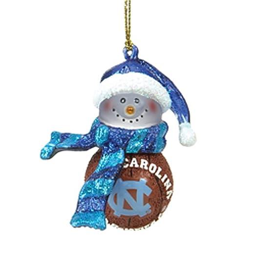 North Carolina Baloncesto de rayas de muñeco de nieve Adornos de ...