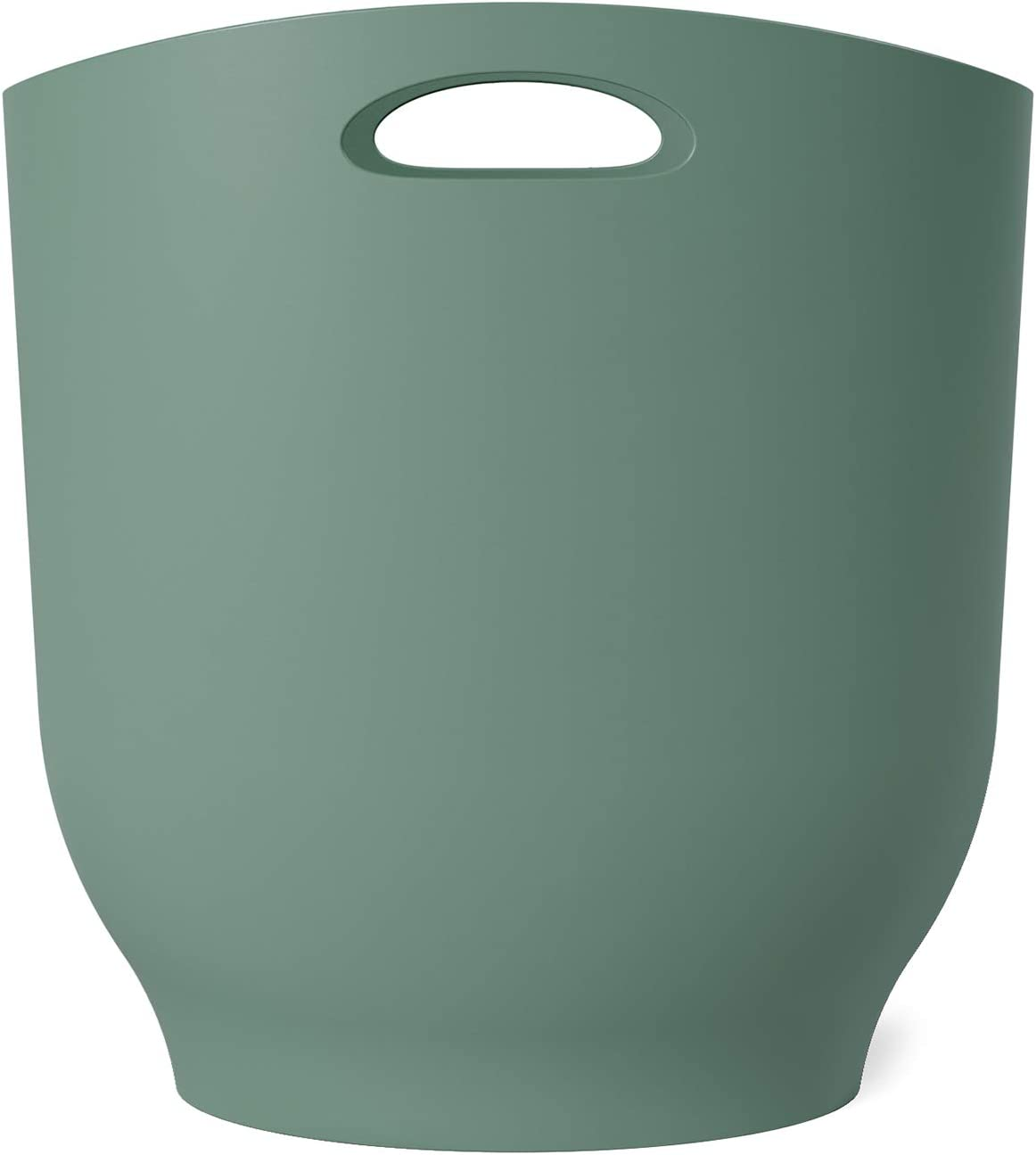 Umbra 1012181-1095 , Spruce Harlo Sleek & Stylish Bathroom Trash, Small Garbage Can Wastebasket for Narrow Spaces at Home or Office, 2.4 Gallon Capacity,7 x 13 x 12