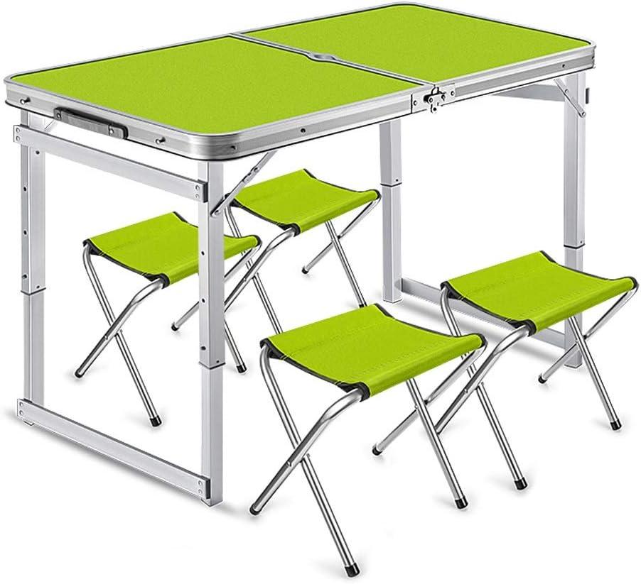 GX Al Aire Libre Plegable 2 Mitad Comida Mesas,Mesa De Exposición Simple Portátil,Banda Paragüero Agujero (Color : Fruit Green): Amazon.es: Hogar