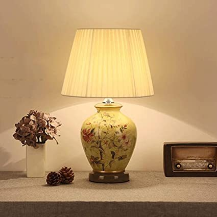 Amazon.com: Ceramic table lamp GX Large Oriental Retro ...