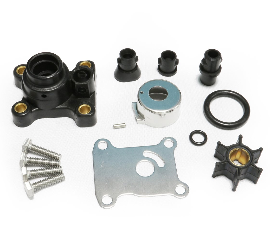 9.9HP 15HP Johnson Evinrude Outboard Water Pump Kit Replacement With Housing(1974-UP) Sierra 18-3327 OMC 394711 386697 391698