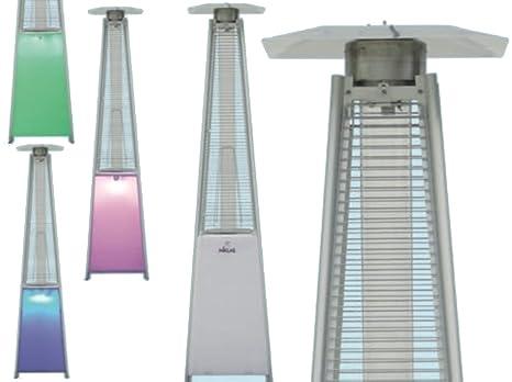 NIKLAS Estufa a Gas Pirámide Totem LED multicromatico Seta de Exterior 13 kW Seta Totem de