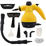 Comforday ALL IN ONE Handheld Steam Cleaner, HIGH PRESSURE Chemical Free Steamer for Bathroom, Kitchen, Surfaces, Floor, Carpet, Grout and more, BEST GERM KILLER and SANITIZER with 9 FREE Accessories