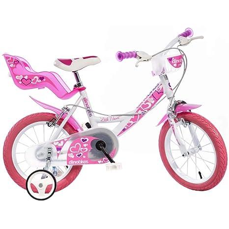 Bici Dino 16 Bimba Per Bambina 6 8 Anni Con Rotelline