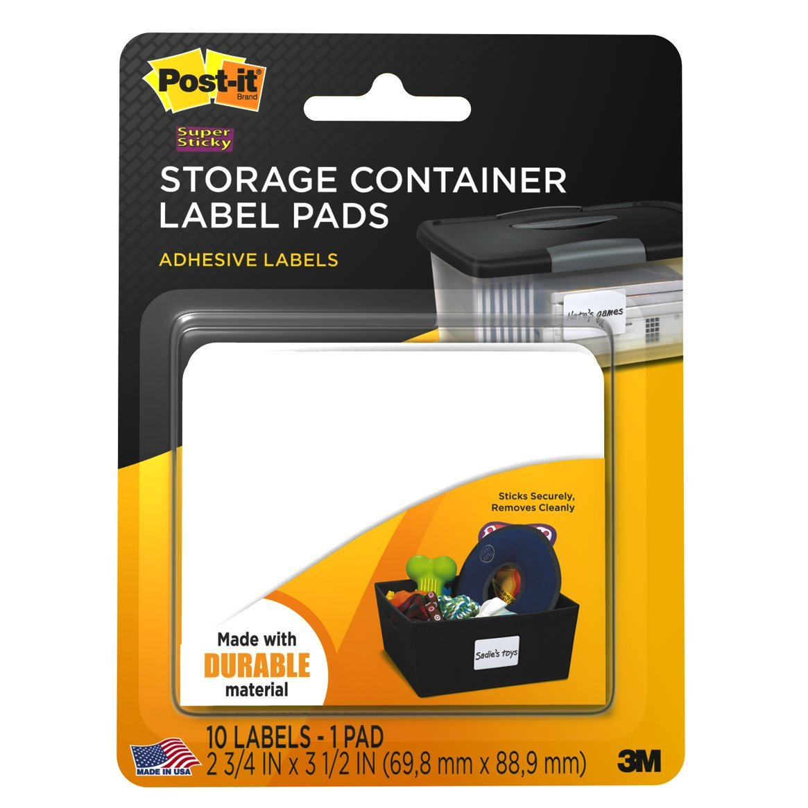Amazoncom Post it Storage Container Labels 2 34 x 3 12 Inches