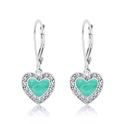 Amazon Com Kids Earrings 925 Sterling Silver With A White Gold