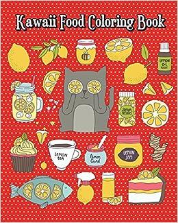 Kawaii Food Coloring Book Simple And Cute Food Drawings Pizza