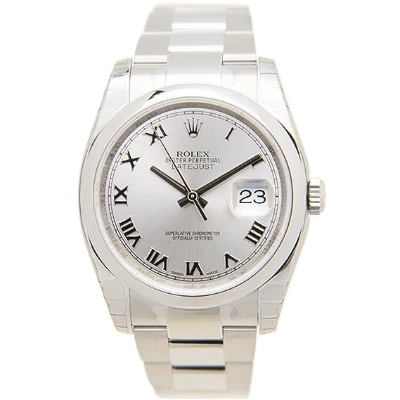 Reloj Rolex para hombre con correa de acero inoxidable de 36 mm, carcasa de cristal