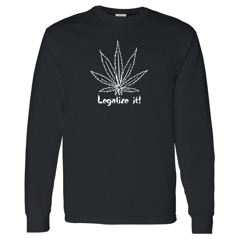 CheapAssTees Legalize It Mens Long Sleeve Shirts