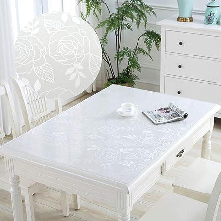 PVC Transparente Mantel Transparente,Plástico Vidrio blando Vinilo ...