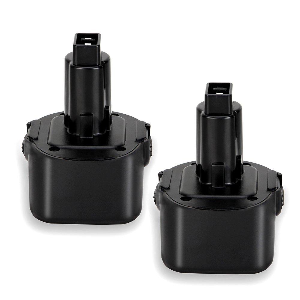 2pack 9.6V 3000mAh Battery for Dewalt DW9062 Dw9061 DW926 DC750KA DW955K DW955 DW926K-2 DW926K DW902 DW050 DE9062 DE9061 DE9036 DW955K-2 DW050K Replacement Battery Pack Shinga Power