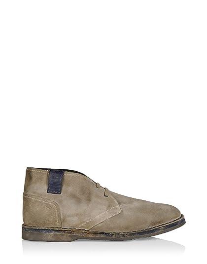 Bikkembergs Hombre Bke108145 Beige Gamuza Botines: Amazon.es: Zapatos y complementos