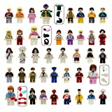 YYKMEI Minifigures Set of 40+7 Include Building Bricks Mini People Accessories Party Favors, Gifts, Just to Build Fun