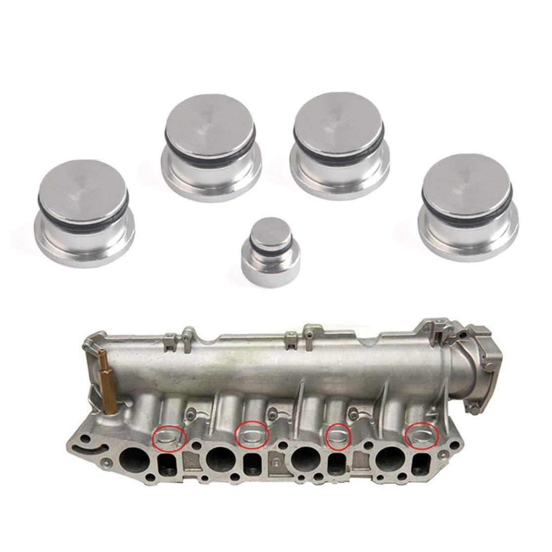 Candybarbar Tapones Ciegos del colector de admisi/ón autom/ático de Aluminio Kit de Tapones Ciegos Tapones para Opel para Saab para Fiat para Alfa Romeo 1.9 Z19DTH