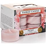 Yankee Candle 1507697E Pivoine Lumignon Combinaison Rose 8,6 x 8,2 x 5,8 cm 12 Pièces