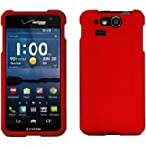 Spots8 Kyocera Hydro Elite C6750 Case Slim Two Piece Snap On Hard Plastic Rubberize Feel Durable Drop Proof Red