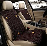 GAOFEI General car seat cover car seat four seasons common cold pad wood beads car supplies car cushion sets , brown