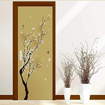 Amazoncom Analisahome Art Decor 3d Door Wall Mural Wallpaper