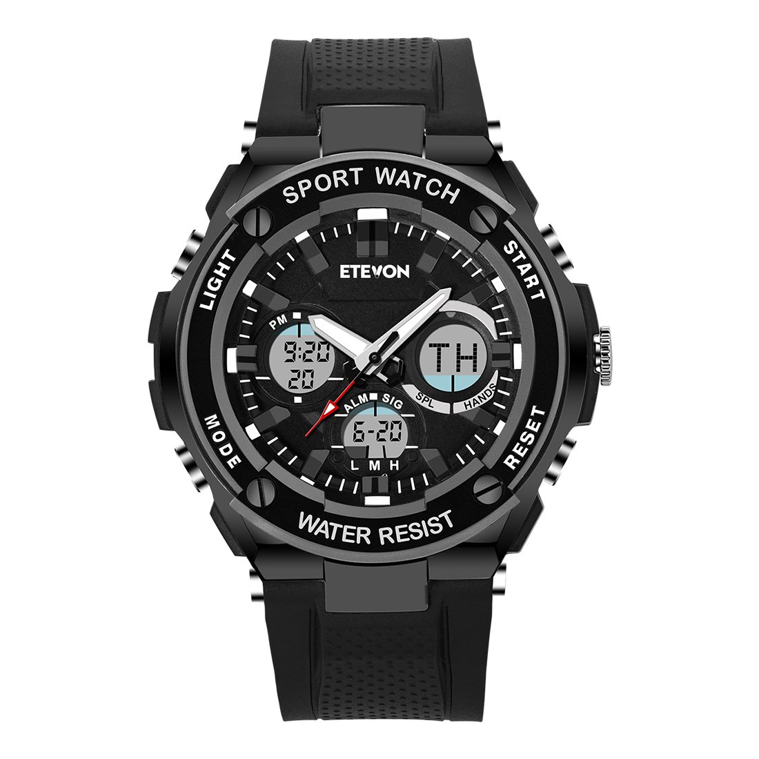 DAGE Mens Digital Watch Quartz Analog with LED Blacklight Waterproof Military Outdoor Sports Watches
