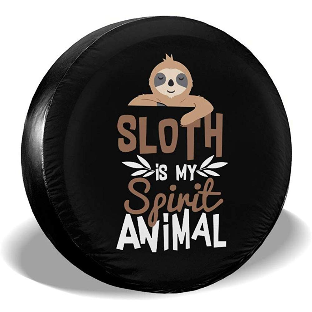 Alice Eva Sloth is My Spirit Animal Spare Tire Wheel Cover Waterproof Dust-Proof Universal Tire Covers