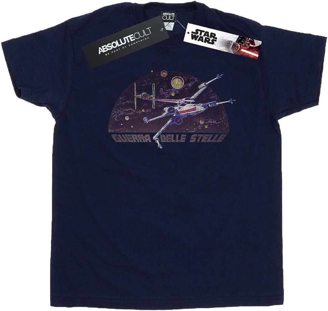 Star Wars Hombre Italian Title X-Wing Camiseta Azul Marino Small: Amazon.es: Ropa y accesorios