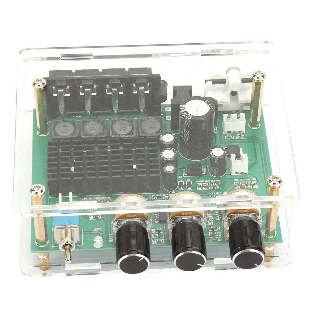 Placa amplificadora de audio, placa amplificadora de potencia de doble canal AC12-17V/DC 12-24V Módulo AMP 80W * 2 Placa amplificadora de audio digital, amplificador de potencia de 1K Ohm