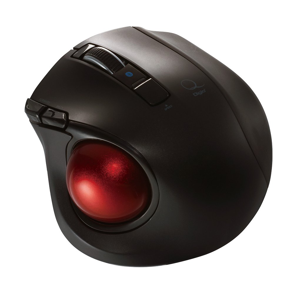 Nakabayashi Co,Ltd. Digio2 Bluetooth Wireless Trackball for Window PC and Mac and Android (Black) by Nakabayashi