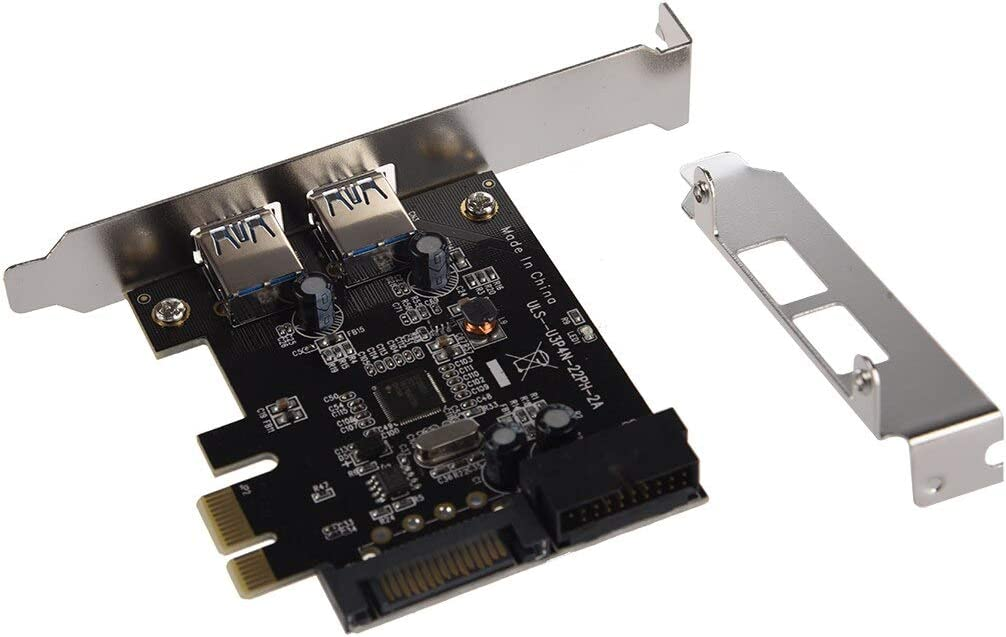 SuperSpeed 2-Port USB 3.0 PCI-E PCI Express Card and 19-pin USB3.0 with 4-pin//15-pin SATA Connector for Digital Products Value-5-Star