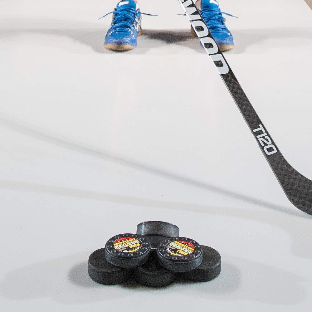 678eb36e73f Amazon.com   HockeyShot Dryland Puck Hockey Training Aids Same Size as Real  Ice Hockey Puck but 1 Ounce Lighter   Sports   Outdoors