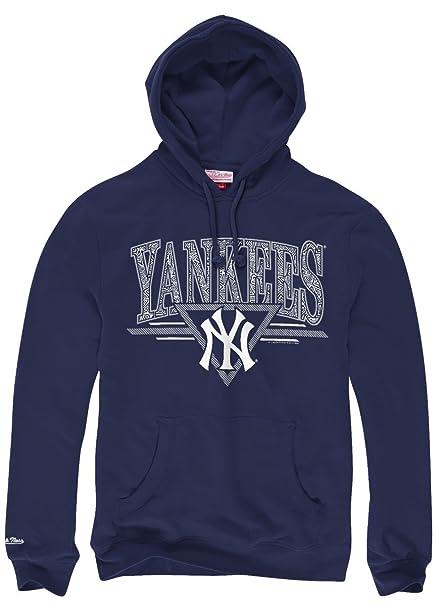 New York Yankees Mitchell & Ness MLB Abstract Vibes Sudadera con Capucha Sudadera, Azul