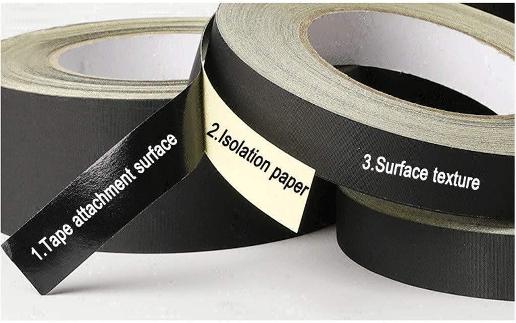 Size : W18mm /× L30m /× 2rolls Xi chen High Temp Insulation Repair Tape,Black Acetate Anti-scalding Tapes Soft and Docile Duct Tape 6.30