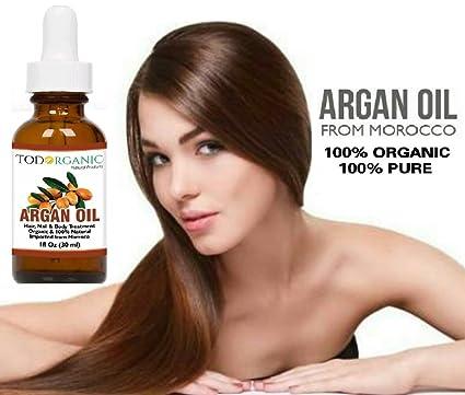 Amazon.com : Aceite Marroquí de Argán 100% Puro y Orgánico del USDA Para El Pelo, La Piel, La Cara y Las Uñas, 1 onza de Aceite de Argán, ...