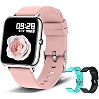 Reloj inteligente para teléfonos Android e IOS, OMANIFER P22 Reloj deportivo impermeable con 3 pares de correas de reloj…