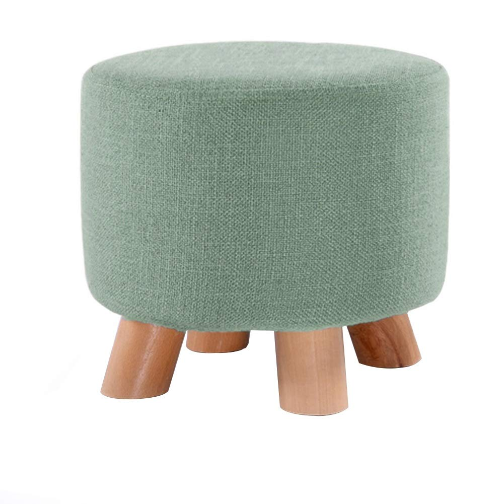 Navy 25.530cm ZHAOYONGLI Footstools,Otools Solid Wood Creative Sofa Stool Living Room Stool Household Cloth Small Bench Change shoes Bench (color   Stripe, Size   42  29cm)