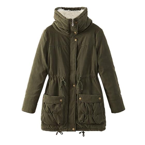 iBaste Women Winter Coats Long Sleeve Parka Fleece Lined Pockets ...