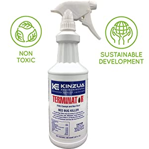 Terminator (32 oz) | Bed Bug, Ant, Flea & Cockroach Killer | All Natural, Non-Toxic, Child & Pet Friendly, 100% Effective, Fast Acting, Stain & Odor Free, Extended Protection 30 Days (32 oz)