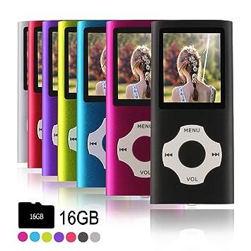 Ueleknight Reproductor de MP3 MP4 con Micro SD de 16G, de Música Digital Portátil/de Video/Lector de Libros Electrónicos/Visualización de Imágenes, ...