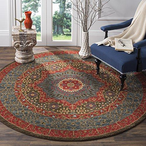Mahal Persian Rugs Carpets - Safavieh Mahal Collection MAH620C Traditional Oriental Round Area Rug, 6'7