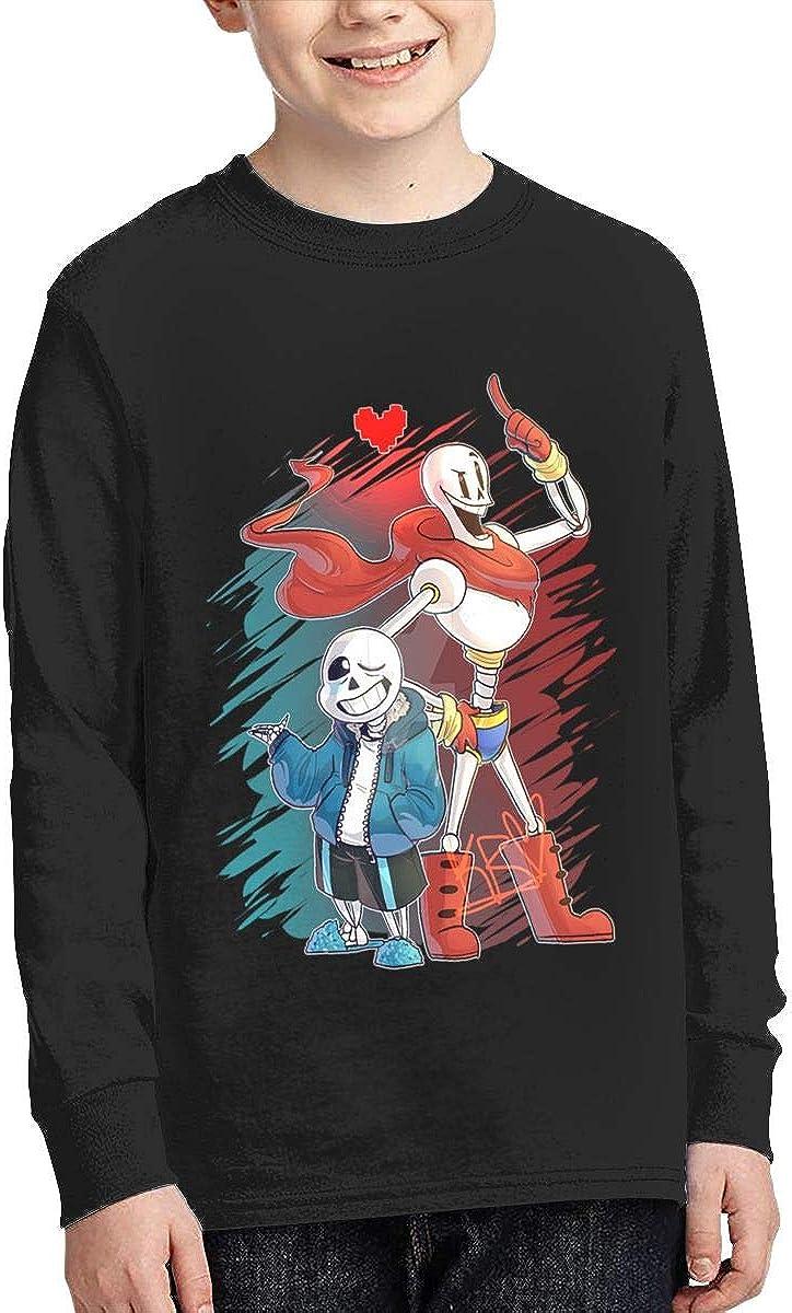 RyanCSchmitt Undertale Youth Boys Girls 3D Front Print Fashion Long Sleeves T Shirt Fashion Teenagers Tee Shirts