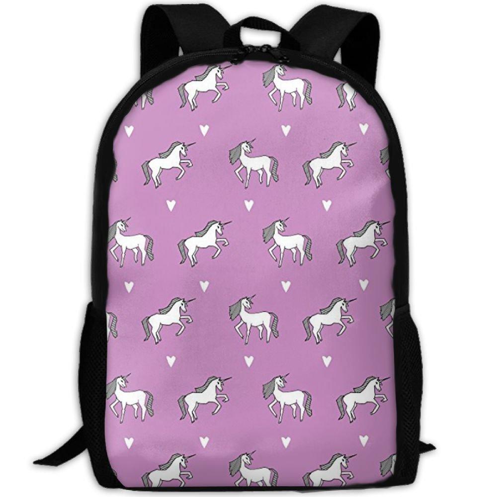 414d6e12dac2 Amazon.com: Wialis8-id Little Girls UnicornCollege Bookbag,Shoulder ...