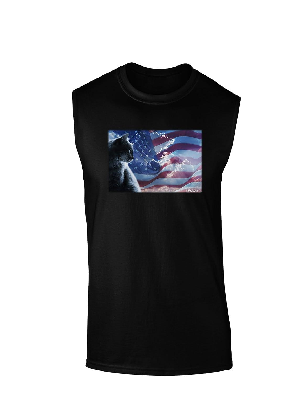 TooLoud All American Cat Dark Muscle Shirt